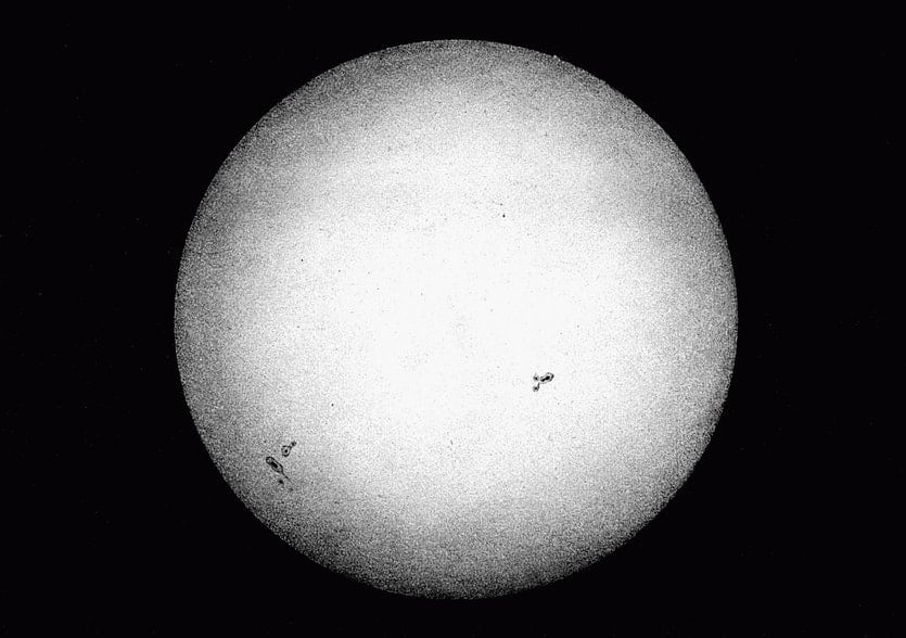 The oldest snapshot of the sun